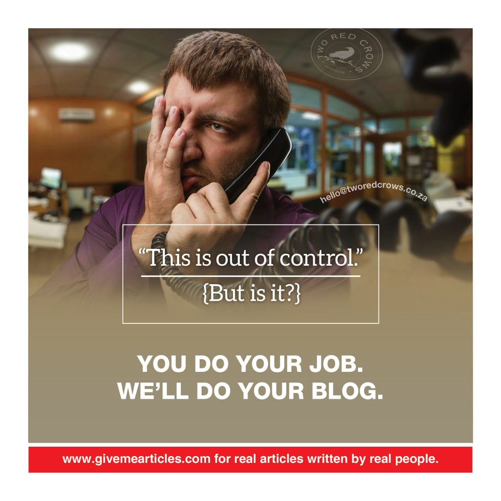 take control of your article writing